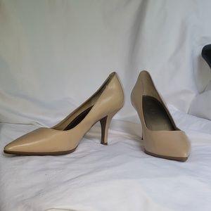 BCBG Nude Leather Heels